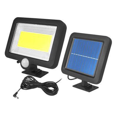 Solární LED lampa se senzorem pohybu a soumraku + solární panel