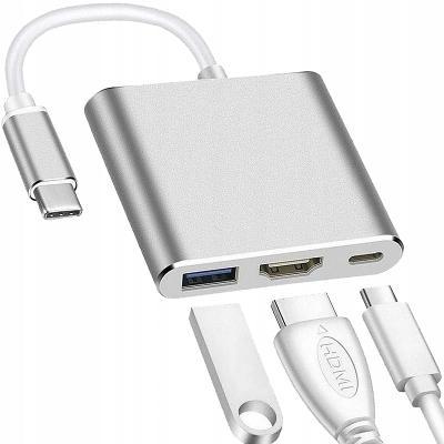 ADAPTÉR 3V1 HUB USB-C HDMI