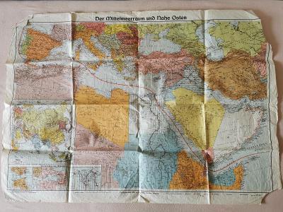 Stará mapa  DER MITTELMEERRAUM UND NAHE OSTEN