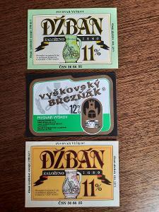 pivní etikety Vyškov