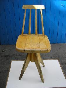 3xRetro otočné židle 70.léta