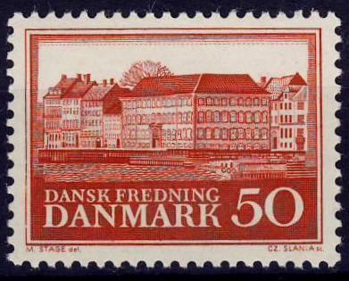 Dánsko 1966 **/ Mi. 422 , starý palác v Kodani , komplet , /0001/