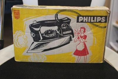 stará žehlička v orig.krabici znač.Philips