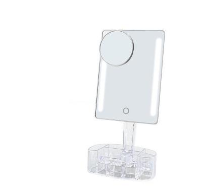 LED zrcadlo s odkládacími přihrádkami