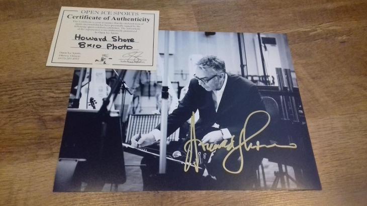 Autogram Howard Shore + certifikát - Ostatní