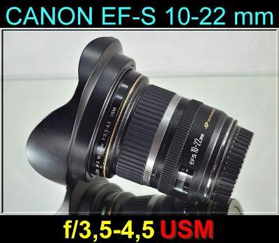 💥 CanonEF-S 10-22mmf/3.5-4.5 USM **ŠIROKOÚHLÝ APS-C ZOOM** TOP👍