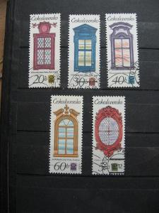 série 2240 / 2244 - Historická pražská okna 1977 (5) - popis - H-24