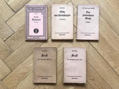 5x J. W. Goethe – německy – Faust, Mahomet
