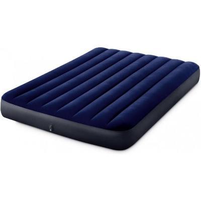 Velurová nafukovací matrace INTEX 191x137x22cm modrá. Nová.