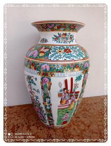 *** Super nádherná masivní porcelánová malovaná xxl orient váza ***