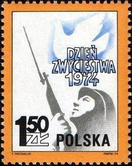 Polsko 1974 Známky 2313 ** Druhá světová válka vojáci výročí vítězst - Filatelie
