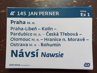 Směrová cedule EC 145/144 JAN PERNER