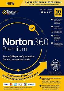 NORTON 360 PREMIUM 10 ZAŘÍZENÍ NA 1 ROK + 75 GB CLOUD + FAKTURA