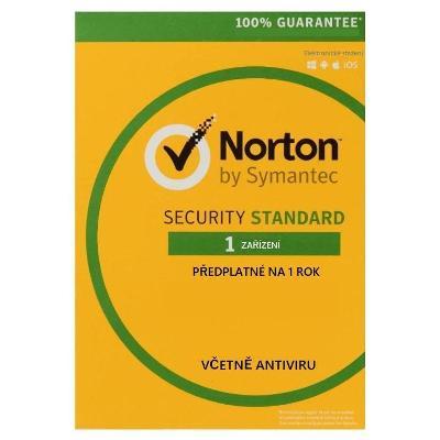 NORTON SECURITY STANDARD 1 ZAŘÍZENÍ NA 1 ROK + FAKTURA