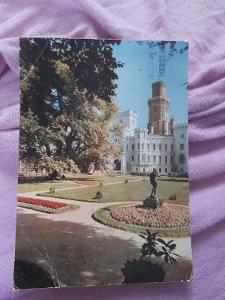 Pohlednice Hluboká nad Vltavou - zámek,prošlé poštou