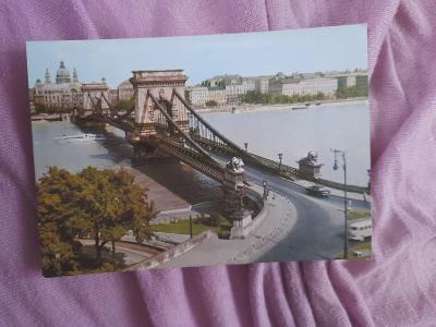 Pohlednice Budapešť,neprošlé poštou