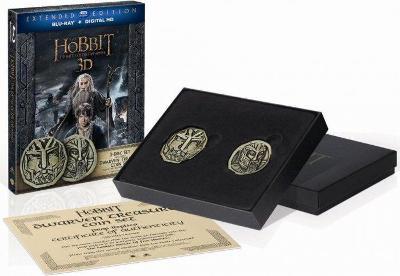 Hobit: Bitva pěti armád (Prodloužená verze) + mince - Blu-ray 3D + 2D