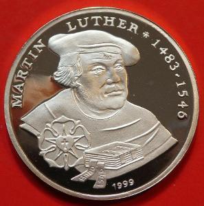 Togo 1000 Francs 1999 Martin Luther 0.999 Ag 14,97g PROOF RRRR čŠU005