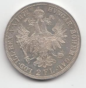 """Fr.J.I., 2 zlatník 1872, """"R"""" - vzácny ročník, mimoriadny stav TOP"""