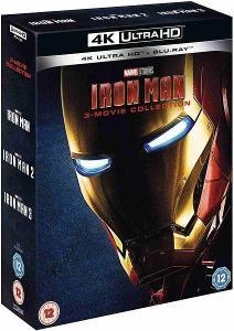 Iron Man 1-3 kolekce - 4K UHD Blu-ray + Blu-ray