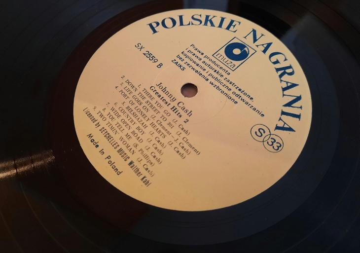 LP Johnny Cash- Greatest Hits 2. Muza. 1987.  - Hudba