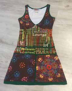 Barevné vzorované šaty - vel. S/M, zn: Smash- Top stav