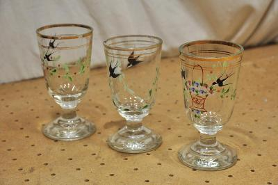 Punčové sklenice 3ks ručně malované