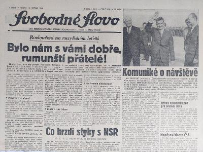 Svobodné slovo 18.srpna 1968