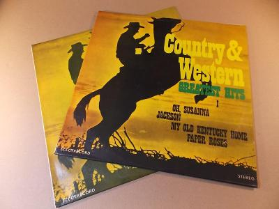 Country & Western GREATEST HITS 1 - 2 Romania 2 lp