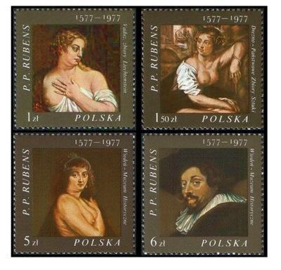 Polsko 1977 Známky Mi 2497-2500 ** Rubens umění malování
