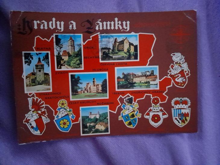 Pohlednice hrady a zámky Jižních Čech,prošlé poštou  - Pohlednice