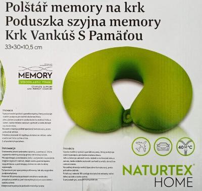 Naturtex Memory polštář na krk 33x30x10,5 cm