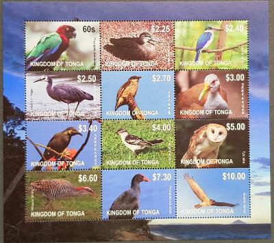 Tonga 2012, fauna - ptáci, 1xTL, katalog. cena 60 Euro!