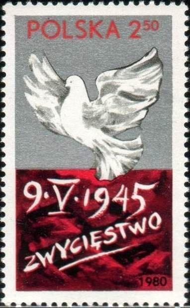 Polsko 1980 Známky Mi 2684 ** holub Druhá světová válka vítězství