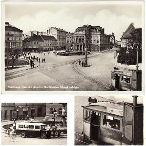 Bratislava divadlo tramvaj autobus