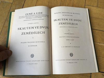 Skautem ve dvou zemědílech 1./ M.F.R.Burnham / Česká g. Unie 1929