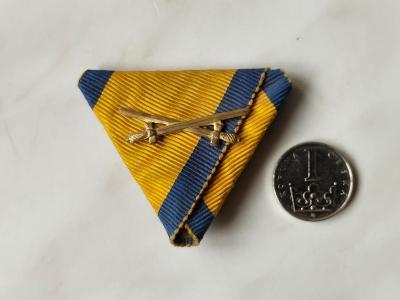 !!! Originální R-U stužka k vyznamenání medaile ŘÁD ŽELEZNÉ KORUNY !!!