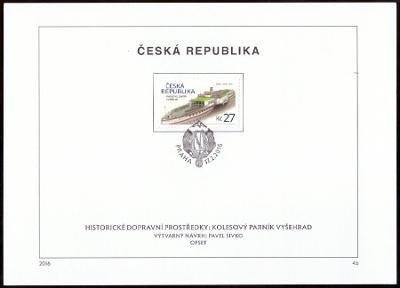 POF. 876-7 - SLOVENSKÁ STRELA + PARNÍK VYŠEHRAD, NÁLEPNÍ LISTY (S2120)