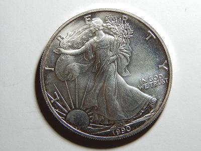 USA 1 Dollar 1990 Silver Eagle Ag 1 OZ UNC č36273
