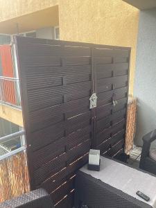 Dřevěná zástěna na zahradu nebo na balkon 2ks