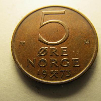 Norsko - 5 Ore 1973