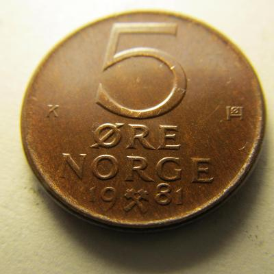 Norsko - 5 Ore 1981