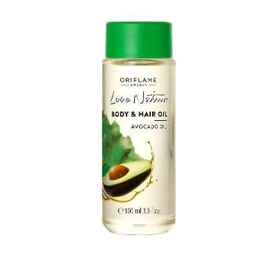 Olej na vlasy a tělo s avokádovým olejem Love Nature Oriflame