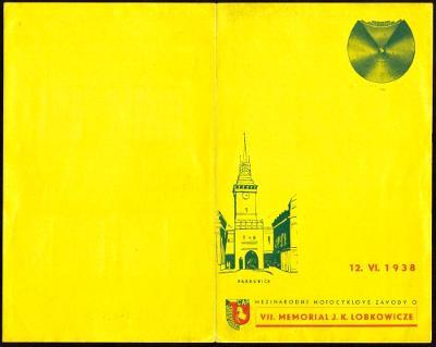 ČSR I - PAMĚTNÍ LIST MEMORIAL J. K. LOBKOWICZE 1938 (S2140)