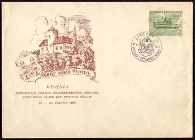 POF. COB 9 - CELINOVÁ OBÁLKA - PŘÍTISK PIVOVAR PŘEROV 1956 (S2145)