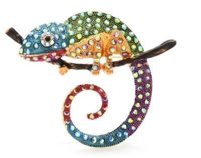 AKCE! Brož chameleon MAXI: barevný