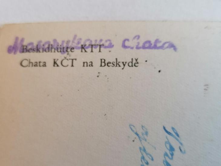 Pohled Chata KČT (Masarykova) na Beskydě  - Pohlednice