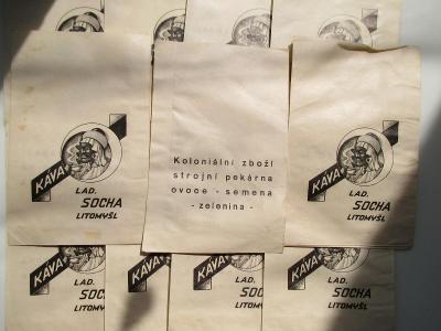 24 X SÁČEK KOLONIÁL- 1,REP - LITOMYŠL - LAD. SOCHA - PEKÁRNA , SEMENA
