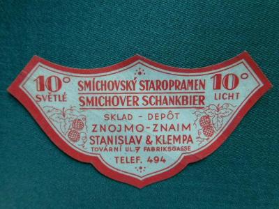 PE - Pivovar - Znojmo - Praha - Smíchov