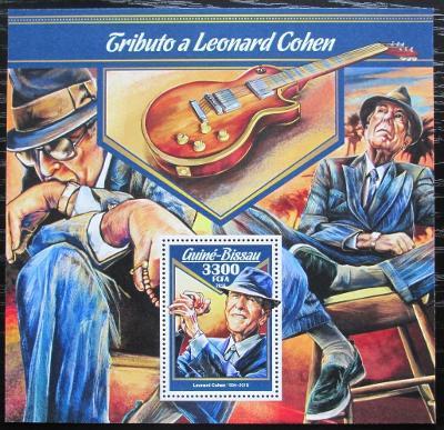 Guinea-Bissau 2016 Leonard Cohen Mi# Block 1556 Kat 12.50€ 2207